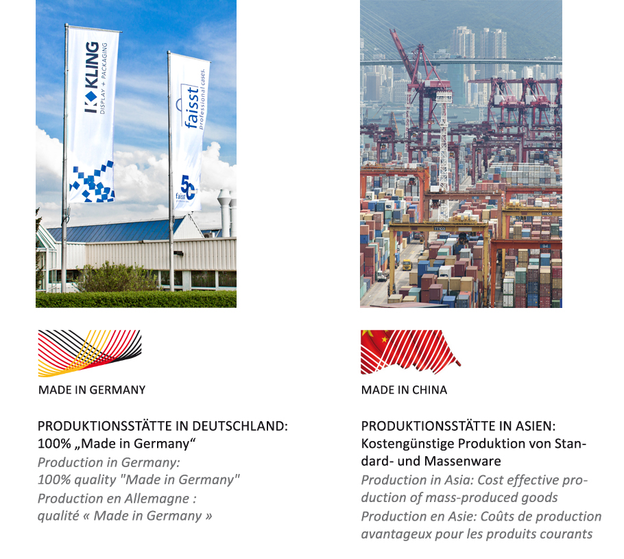 production sites in Germany and Asia